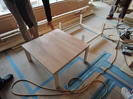 87 Y様邸マンションリノベーション工事 小上がり家具