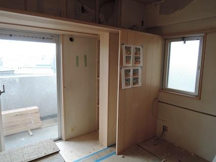 107 Y様邸マンションリノベーション工事 5連建具戸袋