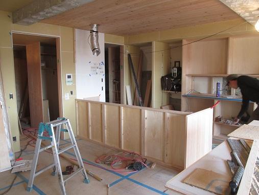 17  Y様邸マンションリノベーション工事 大工造作キッチン製作