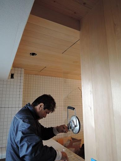 46  Y様邸マンションリノベーション工事 お風呂強化ガラス設置