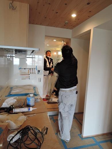 63  Y様邸マンションリノベーション工事 お風呂強化ガラス扉設置