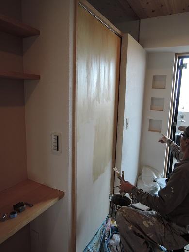 85 Y様邸マンションリノベーション工事 建具塗装