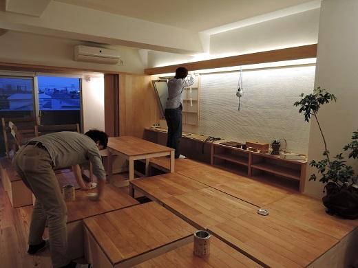 92 Y様邸マンションリノベーション工事 見学会前日準備