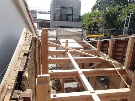 8 里井邸2階小屋組み