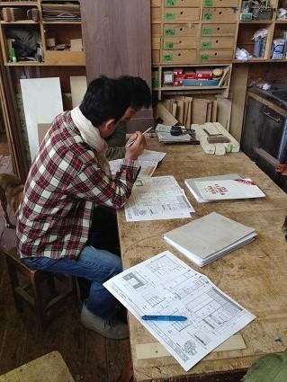 21 里井邸匠と居藏でoguma工房で家具打ち合わせ