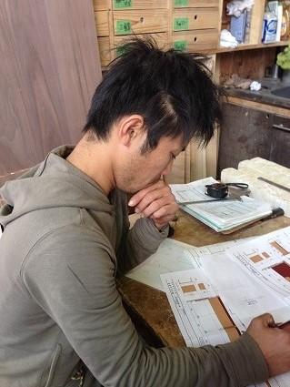 24 里井邸匠と居藏でoguma工房で家具打ち合わせ