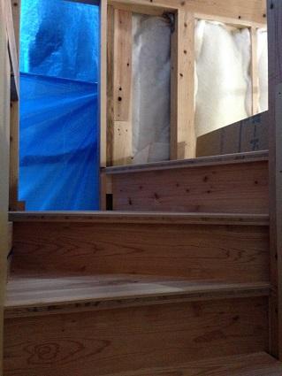 45 里井邸階段加工