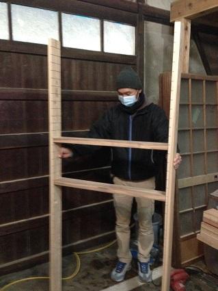 101 里井邸中島監督と居藏で倉庫加工