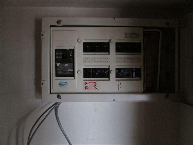 5 ハーバーランド 木のマンションリノベーション着工前仮設電気_R