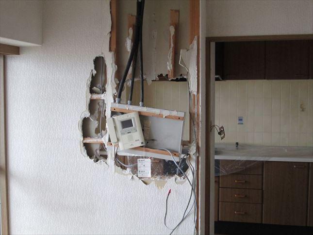 6 ハーバーランド 木のマンションリノベーション着工前仮設電気_R