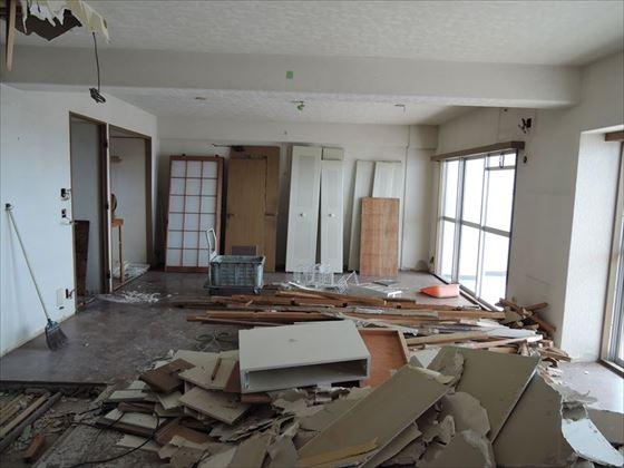 11 ハーバーランド 木のマンションリノベーション解体_R