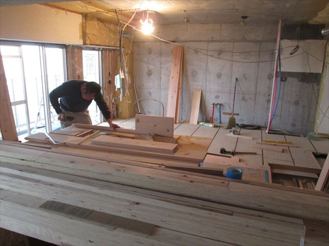 34 ハーバーランド 木のマンションリノベーション大工工事_R
