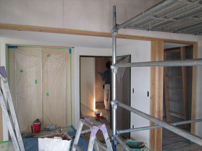 96 ハーバーランド 木のマンションリノベーション左官工事_R