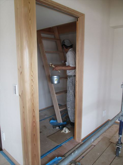 111 ハーバーランド 木のマンションリノベーション塗装工事_R