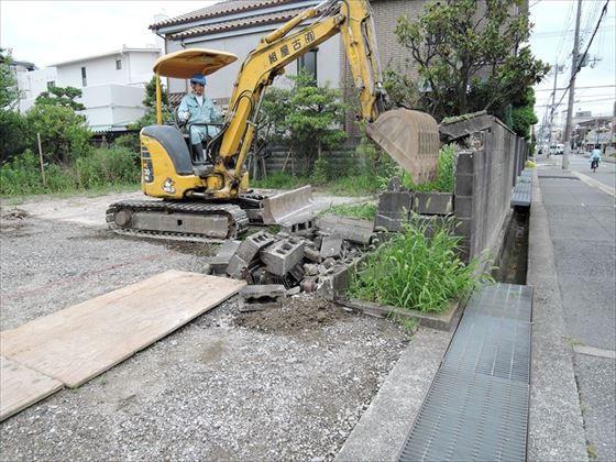 24 西宮H様邸ブロック解体