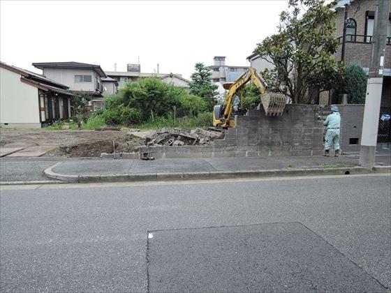 26 西宮H様邸ブロック解体