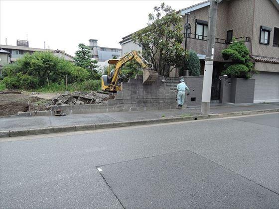 27 西宮H様邸ブロック解体