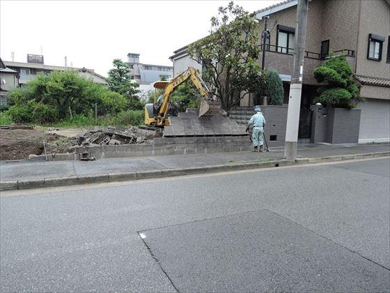 28 西宮H様邸ブロック解体