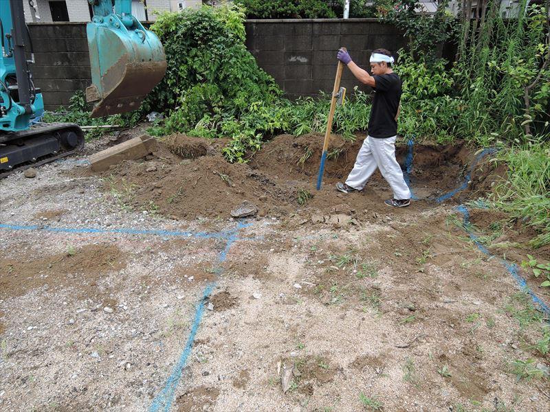 3 西宮H様邸基礎掘方