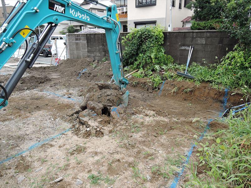 5 西宮H様邸基礎掘方