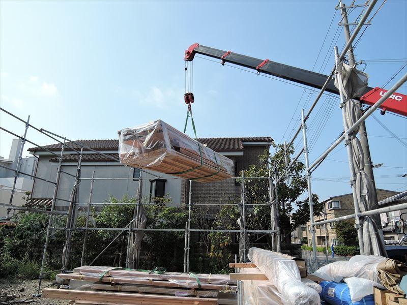 103 西宮H様邸基礎土台敷き