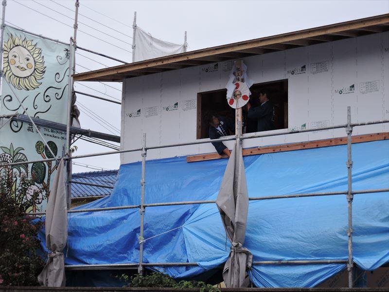 17  西宮H様邸木の家 新築 上棟式