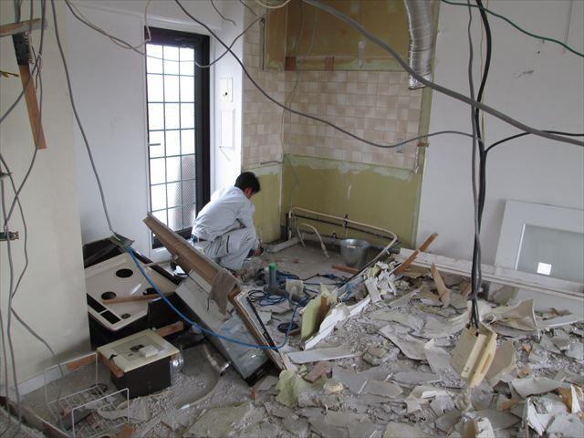 20 豊中 T様邸木のマンションリノベーション 解体