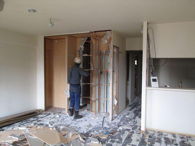 14 東三国のM様邸木のマンションリノベーション解体工事
