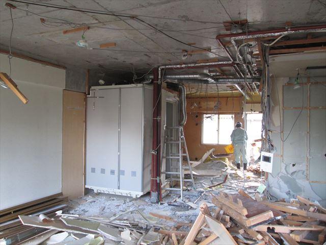 17 東三国のM様邸木のマンションリノベーション解体工事