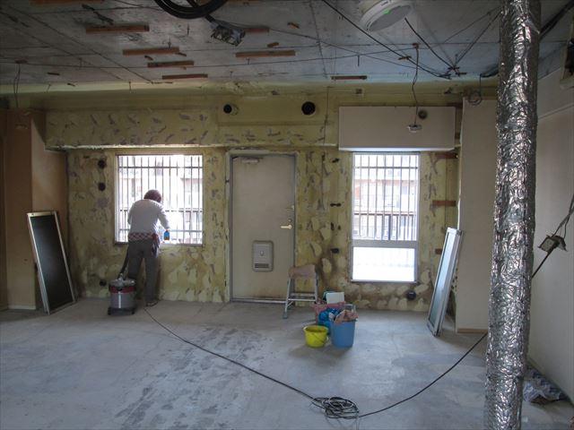 24 東三国のM様邸木のマンションリノベーション解体後洗い