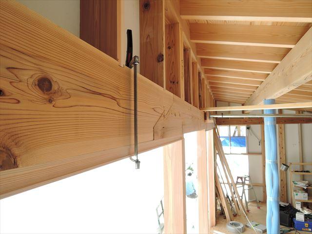 29 西宮H様邸木の家新築現場 木製枠