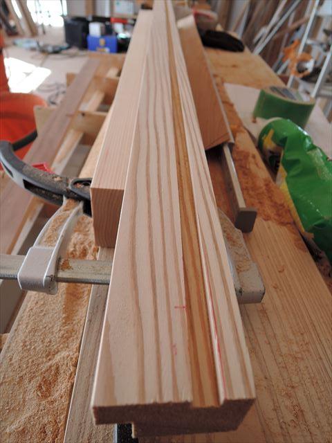 30 西宮H様邸木の家新築現場 木製枠