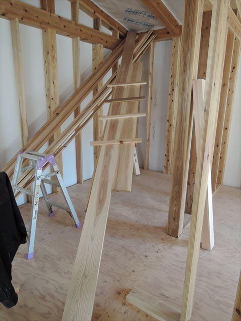 31 西宮H様邸木の家新築現場 木製枠