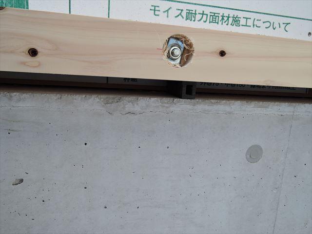 34 西宮H様邸木の家新築現場 掃き出し敷居