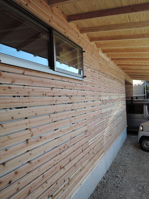 57 西宮H様邸木の家新築現場 バラ板