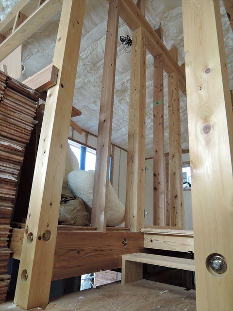 69 西宮H様邸木の家新築現場 アイシネン施工