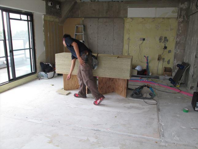 11 豊中T様邸木のマンションリノベーション 乾式二重床施工