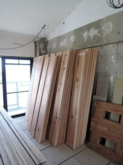 18 豊中T様邸木のマンションリノベーション 吉野杉床材