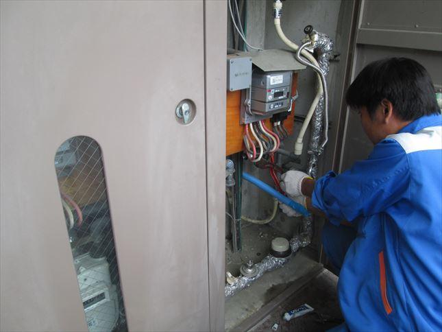 10 東三国のM様邸木のマンションリノベーションガス工事