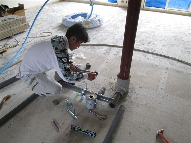 11 東三国のM様邸木のマンションリノベーション水道工事