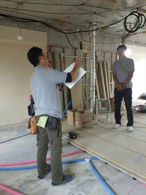 19 東三国のM様邸木のマンションリノベーション定例打ち合わせ