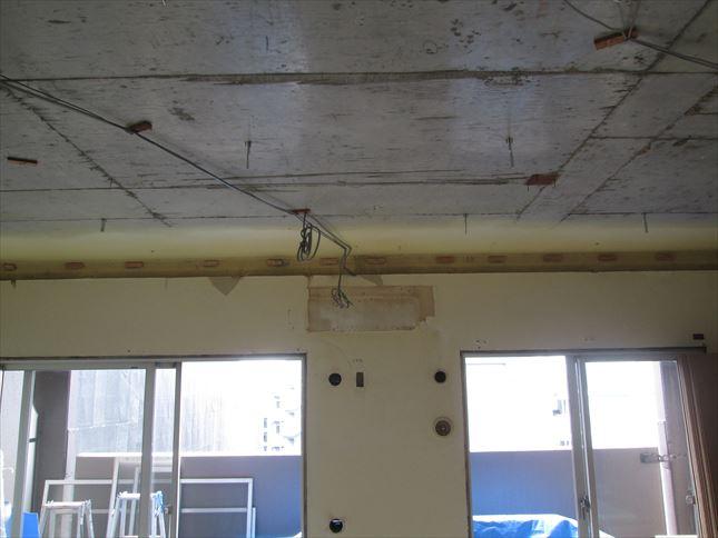24 東三国のM様邸木のマンションリノベーション天井下地