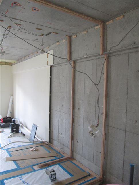 31 東三国のM様邸木のマンションリノベーション壁下地