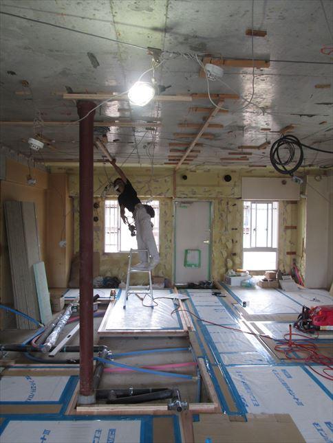 32 東三国のM様邸木のマンションリノベーション天井下地