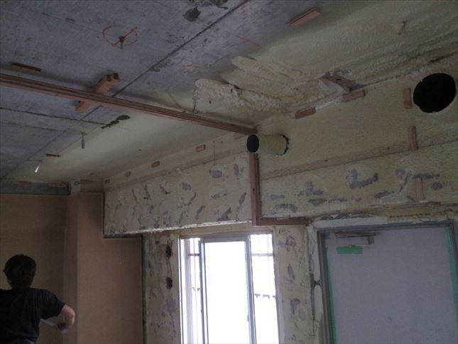 33 東三国のM様邸木のマンションリノベーション天井下地