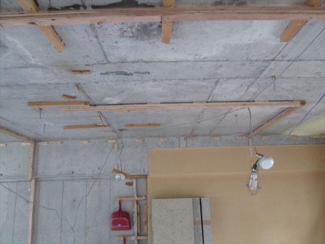 35 東三国のM様邸木のマンションリノベーション天井下地