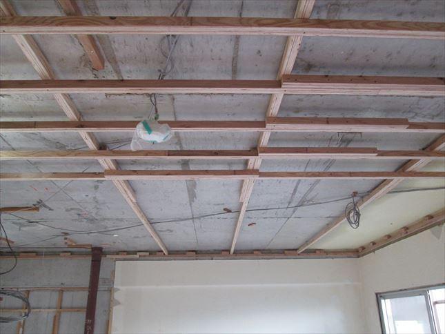 37 東三国のM様邸木のマンションリノベーション天井下地