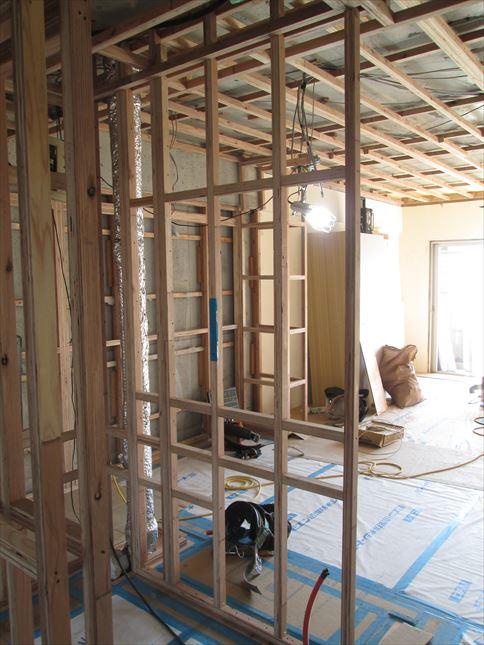 40 東三国のM様邸木のマンションリノベーション壁下地