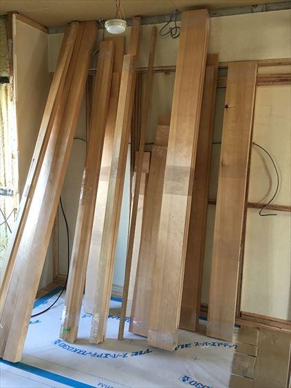 42 東三国のM様邸木のマンションリノベーション枠材