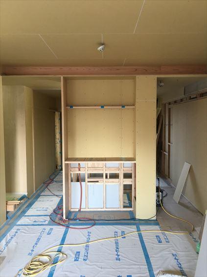 55 東三国のM様邸木のマンションリノベーションTVボード